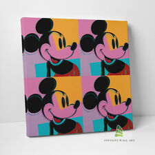 More details for mickey mouse canvas art andy warhol pop art wall art print picture canvas -c891