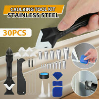 7Pc Stainless Steel Nozzle Spatulas Filler Spreader Tool Caulking Finisher Tools