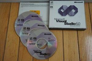 Microsoft Visual Studio 6.0 6 Enterprise with BASIC for Windows ME 7 8 PRO 10