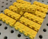 LEGO 30414 Yellow 1x4 Bricks with 4 Side Studs Knobs New Lot Of 12