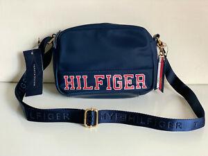NEW! TOMMY HILFIGER BLUE CAMERA MESSENGER CROSSBODY SLING BAG PURSE $78 SALE