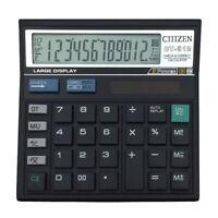 12 Digit Desk Calculator Large Buttons Solar Power Desktop Battery Shop School c