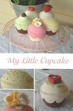 My little cupcake-Cucito Craft pattern-giocattolo morbido bambola di feltro shabby chic
