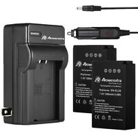 2x EN-EL20 1200mAh Li-ion Battery + Charger for Nikon 1 J1 J2 J3 S1 V3 EN-EL20A