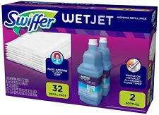 Swiffer Wetjet Mopping Refill Pack (32 Pads Plus 2 Bottles Wet Jet Cleaner 1.25L