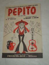 """SPARTITO MUSICALE DEL 1961 """"PEPITO""""CHA CHA CHA-CREAZIONE DI COCKI MAZZETTI"""