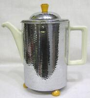 Vintage Mid Century Bauscher Weiden Ceramic Chrome Bakelite Coffee Pot Bavarian