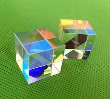 X-CUBE prism Edge Glass Cube Dispersing Step Lens beam Sanki light splitter 2PCS