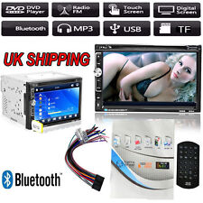 """Double 2 Din 7"""" In Dash Stereo Car DVD CD Player Bluetooth FM Radio SD/USB UK"""