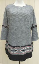YOURS Wool Mix Grey Pattern Jumper Top SIZE 20