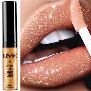 NYX Glam Gold Lipgloss Sparkly Glittery Aqua Luxe 06 Disco Playground