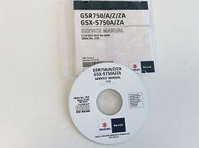 SUZUKI GSR750 GSR 750 + ABS REPARATUR CD WERKSTATT HANDBUCH SERVICE MANUAL NEW
