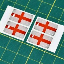 4x England Flag Domed Stickers - High Gloss Raised Finish St Georges Cross