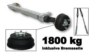 Schlegl 1800kg Achse SB18 1700mm Radanschluss 5 x 112 gebremst Anhänger wie ALKO