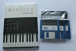 """The Miracle Piano Teaching System PC Users Guide 3.5"""" 5.25"""" Floppy Disk Software"""