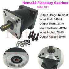 10 :1 CNC Planetary Gearbox Reducer Gearhead input 14mm for Nema34 Stepper Motor