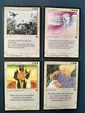 Mtg Legends LP/NM- 4 white cards - Cleanse, Petra Sphinx, Angelic Voices, Akron
