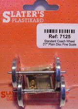 Slaters 7125 1 x Pair Std Plain Disc Coach Wheels & Brass Bearings Kit '0' Gauge