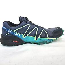 Salomon Speedcross 4 Womens Trail Running Shoes Size 8 Blue Green