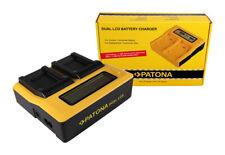 Caricabatteria rapido DUAL LCD Patona per Pentax Optio M900,NB1000,RS1000,RS1500