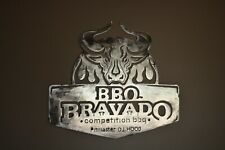 """BBQ BRAVADO"" Custom CNC plasma cut metal sign wall art 19 X 21 made in USA"