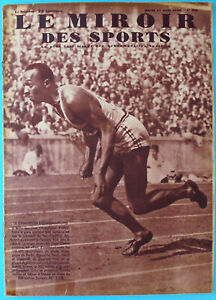 JESSE OWENS The Champion of Champions OLYMPIC GAMES 1936 French Magazine 1936.y