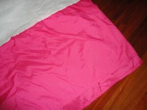 "HOME TRENDS PINK FULL BEDSKIRT NOT SPLIT CORNER POLYESTER 14"" GIRLS"