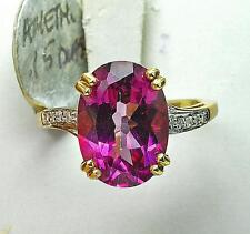 Cocktail Amethyst Yellow Gold 10k Fine Rings