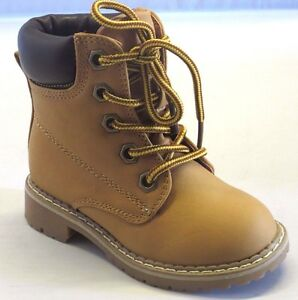 Girl Military Boots Lace-Up Boots Ankle Boots Timber TODDLER Camel Land broad3ka