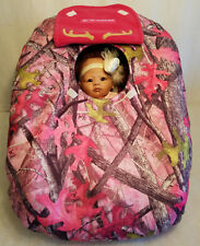 CarSeat Cover Sassy B Pink Camo Baby Girl Cozy Infant Carrier True Timber Fleece