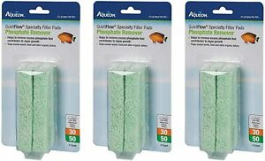 Aqueon QuietFlow Specialty Filter Pads, 30/50, Phosphate Remover (3 Pack)