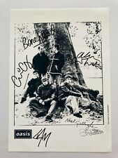 More details for fully signed oasis creation promo photo with coa
