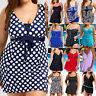 Women Summer Plus Size Swimsuit Tankini Swimwear Bathingsuit Beachwear Swimdress