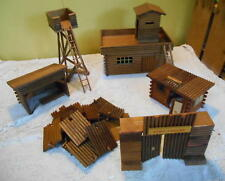 Vintage ALL WOOD Fort Apache Stockade Made in German Democratic Republic