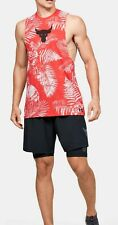 Under Armour Project Rock Tank Top Sleeveless Shirt Aloha Camo Training Tank Xxl