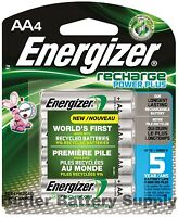 4 AA Energizer Rechargeable Power Plus NiMH Batteries (2300 mAh, NH15BP-4)