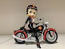 Betty Boop Biker Betty Figurine Motorcycle 1998 Danbury Mint w/ Certificate +Box