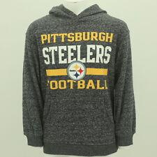 Pittsburgh Steelers Youth Size NFL Hooded Sweatshirt Kangaroo Pocket New