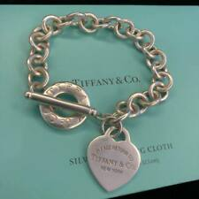 Return to Tiffany & Co. Heart Tag Sterling Silver Toggle Bracelet 7.5''