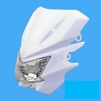 12v White Motorcycle Universal Headlight Fairing Headlamp For Honda Kawasaki KTM