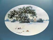 Winter's Refuge by Carol Gibson Sayle Winter Snow Landscape Large Trees House