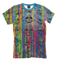 Acid skulls tee - all over printed t-shirt rave style clothing