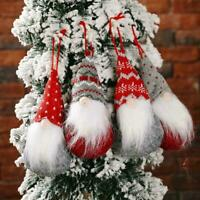 Christmas Tree Hanging Ornaments Faceless Santa Doll Office Decor Hot Home S4G0