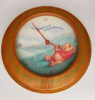 """Disney Store Winnie The Pooh Simply Pooh 11"""" Grand Afternoon Wooden Wall Clock"""