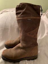Toggi Brown Womens Leather Biker Boots Size 41 9-9.5 US