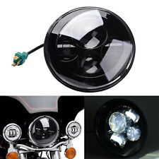 "7"" Black Round Projector Daymaker HID Hi/Lo LED Headlight For Harley Motorcycle"