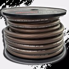 1/0 Gauge AWG BLACK Power Ground Stranded Wire Car Audio Cable Sold By The Foot