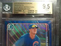 2015 Bowman Chrome Kris Bryant Rookie RC BLUE WAVE REFRACTOR BGS 9.5!