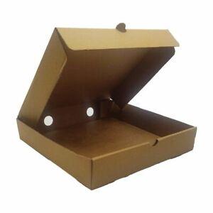 Brown Cardboard Pizza Sweet Box joblot of 10