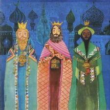 4x Tovaglioli di carta per decoupage artigianale e Party-MILA Marchese: SANTO Three Kings